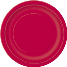 "Small Red Plates - 7"" Paper Plates (20pcs)"